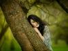 lesna-nimfa-sesja-stylizowana-makijaz-na-sesje-fotograficzna-sukienka-mietowa