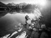 sesja ślubna na Słowacji - fotograf ślubny Nowy Sącz - fotograf Bochnia - fotograf ślubny Tarnów - jezioro wśród gór - wschód słońca