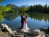 sesja ślubna plenerowa w górach - zdjęcia nad wodą - fotograf ślubny Nowy Sącz