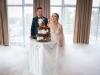 Tort ślubny na weselu Karoliny i Mariusza