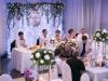 zabawa weselna w Panoramie w Zalasowej - dekoracja stołu Pary Młodej - fotograf Bapacifoto