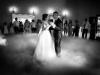 Klimatyczny-Pierwszy-taniec-ciężki-dym-fotograf-tarnów-zdjęcia-nowy-sącz